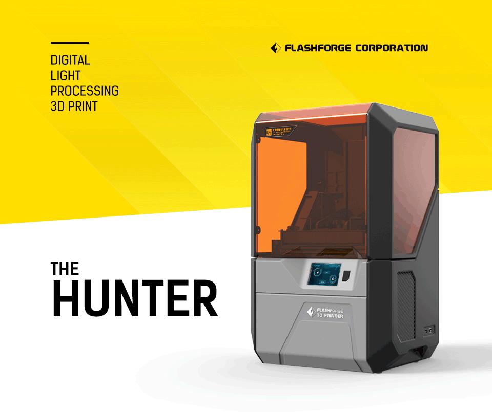 Digital Light Processing 3D Print FlashForge Corporation The Hunter