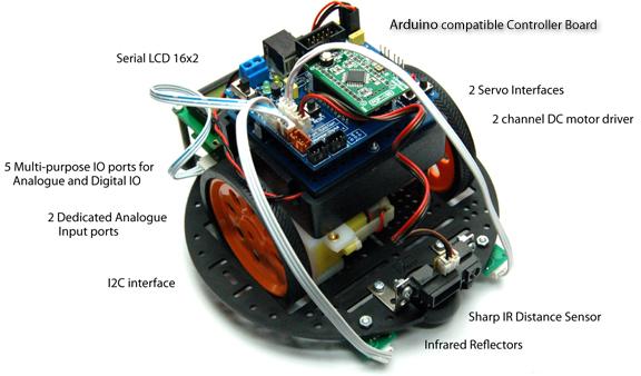 Inex POP-BOT Lite - Arduino Robot with FREE Sharp IR Sensor